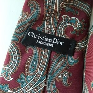 Dior Accessories - Christian Dior mens silk paisley tie